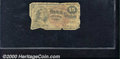 Fractional Currency: , 1869-1875, 15c Fourth Issue, Columbia, Fr-1267, AG. Heavily soi...