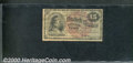 Fractional Currency: , 1869-1875, 15c Second Issue, Columbia, Fr-1269, Good. Heavily a...