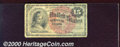 Fractional Currency: , 1869-1875, 15c Fourth Issue, Columbia, Fr-1269, VG-F. Heavily w...