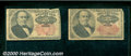 Fractional Currency: , 1874-1876, 25c Fifth Issue, Walker, Fr-1308/1309, 2 piece lot, ...