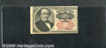 Fractional Currency: , 1874-1876, 25c Fifth Issue, Walker, Fr-1309, VG. Numerous folds...