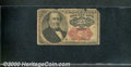 Fractional Currency: , 1874-1876, 25c Fifth Issue, Walker, Fr-1309, Good. Heavily aged...