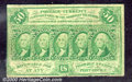 Fractional Currency: , 1862-1863, 50c First Issue, Washington Stamps, Fr-1312, VG-F. S...