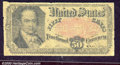Fractional Currency: , 1874-1876, 50c Fifth Issue, Crawford, Fr-1381, VG. Well-worn sa...