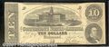 Confederate Notes:1863 Issues, 1863 $10 State Capitol at Columbia, SC; R.M.T. Hunter, T-59, VF...