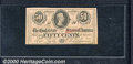 Confederate Notes:1863 Issues, 1863 50 Cents Bust of Jefferson Davis, T-63, CU. A crisp, well ...