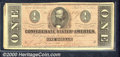 Confederate Notes:1864 Issues, 1864 $1 Clement C. Clay, T-71, XF. A nice, bold example with hu...