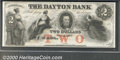 Obsoletes By State:Minnesota, Undated 1850s $2 Dayton bank, Dayton, MN, AU. You may bid on th...