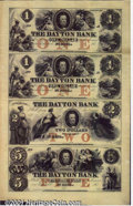 Obsoletes By State:Minnesota, Uncut sheet of (4) notes from the Dayton Bank, St. Paul, MN, AU...