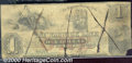 Obsoletes By State:Rhode Island, $1, The Warwick Bank, RI, 1857, Good-VG. A well worn note that ...