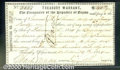Miscellaneous:Republic of Texas Notes, 1844 Treasury Warrant, The Republic of Texas, Cr-AW9A, CU. A ve...