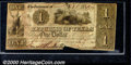 Miscellaneous:Republic of Texas Notes, 1841 $1 Republic of Texas, Fine, Cut Cancelled. Cr-A1. There is...