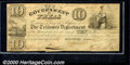 Miscellaneous:Republic of Texas Notes, 1838 $10 Government of Texas, Fine, Cut Cancelled. Cr-H17. The ...
