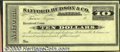 Miscellaneous:Checks, $10 Safford, Hudson and Co., Bankers, Tucson, Arizona, Choice C...