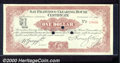 Miscellaneous:Checks, 1907 $1 Clearing House Certificate, San Francisco, CA, Choice C...