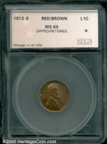 Additional Certified Coins: , 1912-S 1C, RB