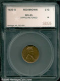 Additional Certified Coins: , 1920-S 1C, RB