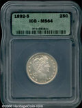 Additional Certified Coins: , 1892-S 25C
