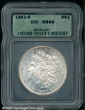 Additional Certified Coins: , 1881-S S$1