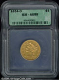 Additional Certified Coins: , 1854-O $5