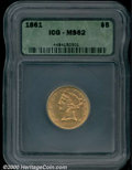Additional Certified Coins: , 1861 $5