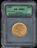 Additional Certified Coins: , 1907 $10 NO MOTTO