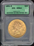 Additional Certified Coins: , 1891-S $20