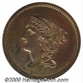 Additional Certified Coins: , 1854 P1C J-161ORG, BN