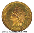 Proof Indian Cents: , 1867 1C, RD