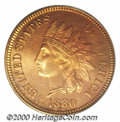 Proof Indian Cents: , 1880 1C, RD