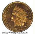 Proof Indian Cents: , 1877 1C, RD