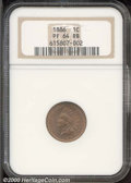 Proof Indian Cents: , 1886 1C, RB