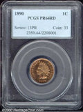 Proof Indian Cents: , 1890 1C, RD