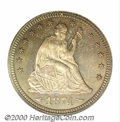 Proof Seated Quarters: , 1874 25C ARROWS