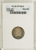 Bust Dimes: , 1825 10C --Cleaned--ANACS. AU55 Details. JR-4, R.2. Star 7 pointsto the top of the headband, and the digits 2 and 8 are clo...