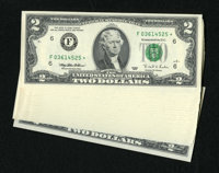 Fr. 1936-F* $2 Independence 1995 Federal Reserve Star Notes. Twenty-five Consecutive Examples. Gem Crisp Uncirculated. T...