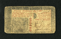 New Jersey April 10, 1759 30s Fine. Very Fine from the face, with every letter of the text bold and sharp, and three goo...