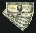 Small Size:Gold Certificates, Fr. 2402 $20 1928 Gold Certificate. Fine.. The edges are nice on this example that has an erasure area to the left of the po...