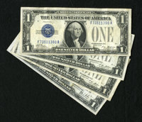 Four Funnyback $1 Silver Certificates including 1928; 1928A (2); and 1928B. Fine or better