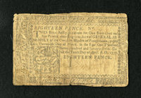 Pennsylvania April 10, 1777 1s/6d Very Good. This is the first time that this denomination from this issue uas been in o...