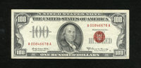 Fr. 1551 $100 1966A Legal Tender Note. Very Fine-Extremely Fine. This Friedberg number is much scarcer than its sibling...
