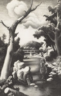Prints:American, THOMAS HART BENTON (American 1889-1975). Shallow Creek,1939. Lithograph. 14-3/8 x 9-3/8 inches (36.2 x 23.5 cm). Ed. 2...
