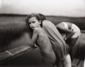Photographs, SALLY MANN (American b.1951). Jessie in the Wind, 1989. Gelatin silver print. 7-1/2 x 9-1/2 inches (19.1 x 24.1 cm). Sig...