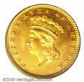 Proof Gold Dollars: , 1873 G$1