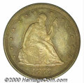 1877 20C PR 62. The proof-only 1877 has the lowest mintage (350 pieces) in this short-lived series. An originally toned...