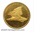 1858 P1C Flying Eagle Cent, Judd-193, Pollock-236, R.5, PR 65. The obverse is that of the regular issue 1858 Small Lette...
