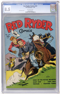 Red Ryder Comics #23 (Dell, 1945) CGC VF+ 8.5 Off-white pages