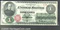 1862 $1 Legal Tender Note, Fr-16, Choice CU. The colors could hardly be brighter or fresher on this popular, early Legal...