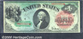 Large Size:Legal Tender Notes, 1869 $1 Legal Tender Note, Fr-18, CU. A gorgeous example of...