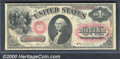 1875 $1 Legal Tender Note, Fr-20, Fine-VF. The obverse is Choice in appearance and the equal of most VFs, but minor disc...